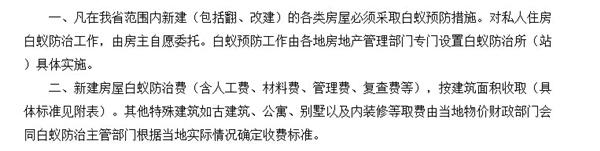 这是江苏的地方性规定,明确了白蚁防治工作由当地白蚁防治所实施
