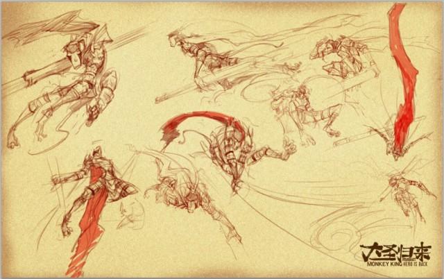 《大圣归来》精美原画手稿流出