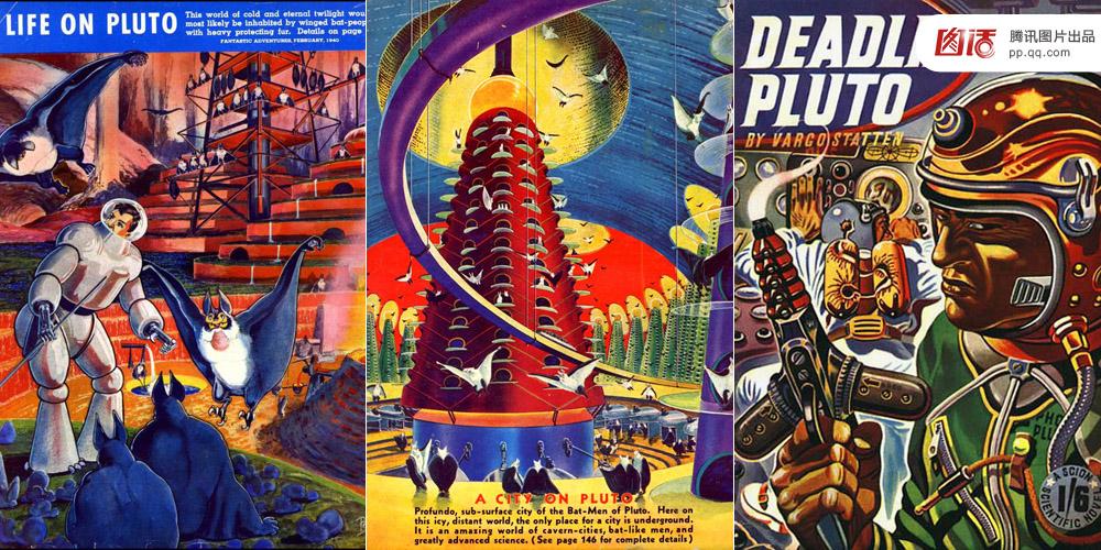 图为30年代的美国,以冥王星为主题的科幻画. 615图片