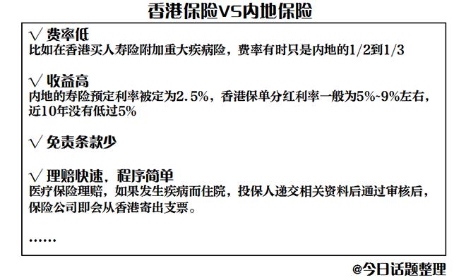 香港保险的优势