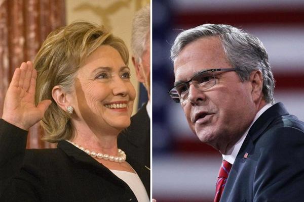 """希拉里和布什在""""美国人是否需要更长工作时间""""问题上爆发争论"""