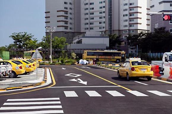 韩国路考现场
