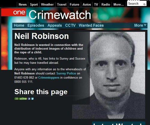 狼外教罗宾逊被英国警方通缉