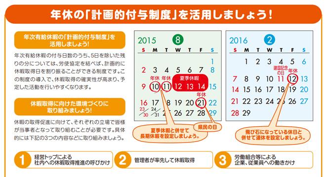 日本静冈县的宣传册,教大家怎么利用夏季假期来连休,提倡管理者带头