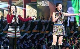 朱妍(右)曾上过湖南春晚唱《青藏高原》
