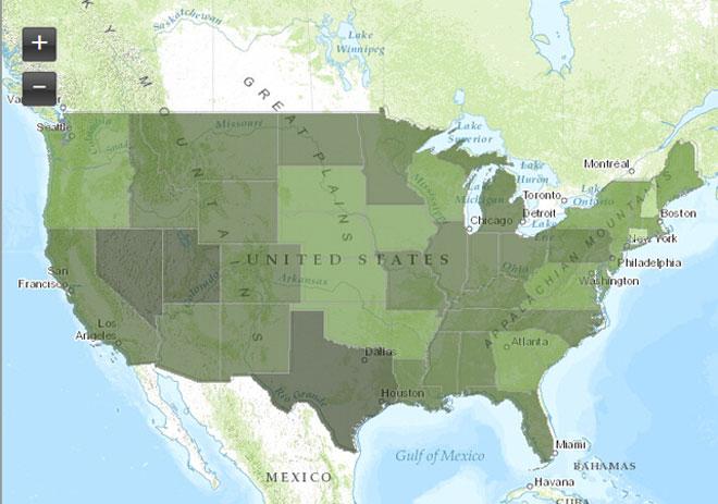美国联邦环保署网站上能够查询到非常具体的有毒物质排放