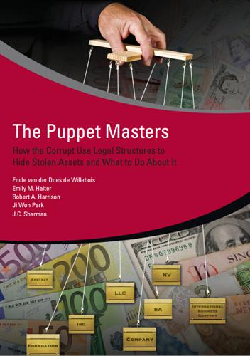 """""""影子股东""""是全球反腐难题,世行2010年出了《傀儡主人:腐败分子如何利用法律架构藏匿隐性资产及应对之策》报告"""