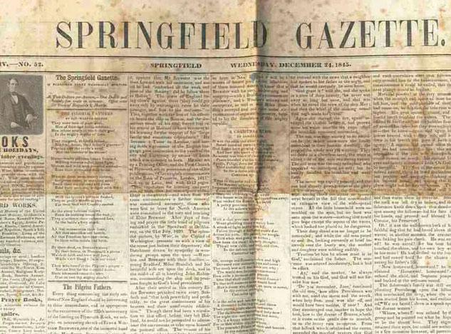 伪造报纸中林肯的头像下方有住址、职业,最近买的书等等信息,右边是喜欢的诗歌,所以被认为是19世纪的facebook