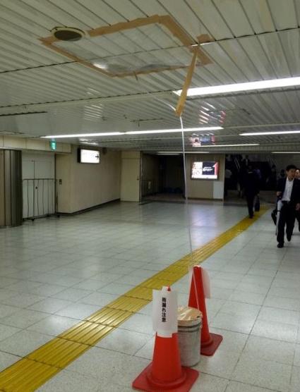 日本一处地铁漏雨后,紧急处理措施偏执地避开了盲道,这一细节足以说明日本的盲道不可能被占用