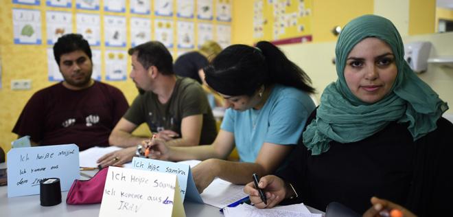 叙利亚难民在德国接收培训