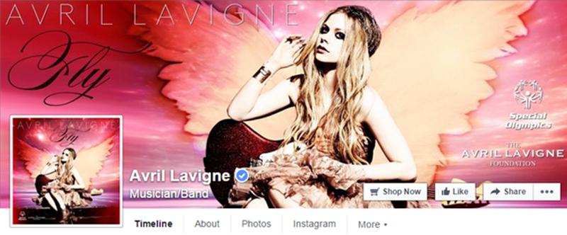 加以拿父亲女皓星艾薇男·弹奏维尼(Avril Lavigne)在Facebook上的认证主页,已拥有53,237,779名粉丝