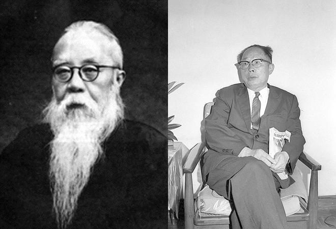熊十力(左)与徐复观(右)因政见不同,而在1949年断绝师生关系
