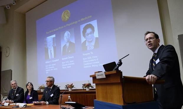 诺贝尔奖委员会宣布屠呦呦获奖并给出得奖理由