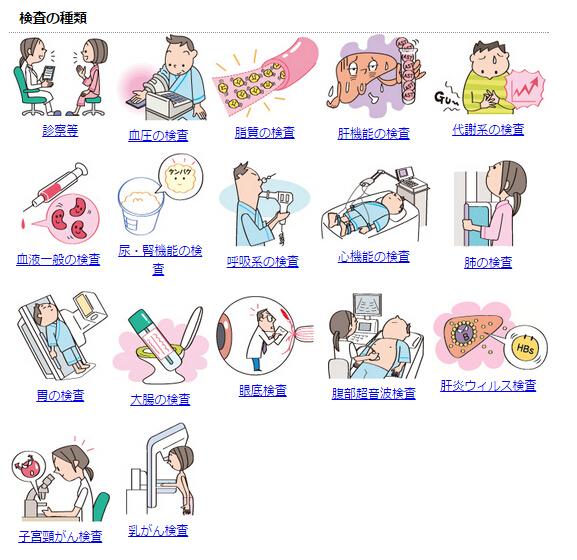日本有专门的国民体检,项目很多,涉及一些发病率较高的癌症,医保买单