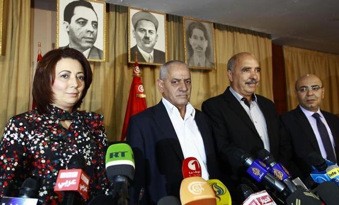 """""""突尼斯全国对话大会""""的四个主要领导"""