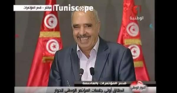 突尼斯人权联盟主席本・穆萨的口误化解了对话中紧张的气氛