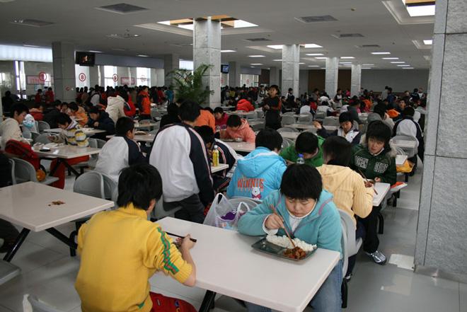 中国的校园食堂
