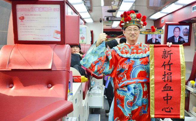 台湾一献血车内部