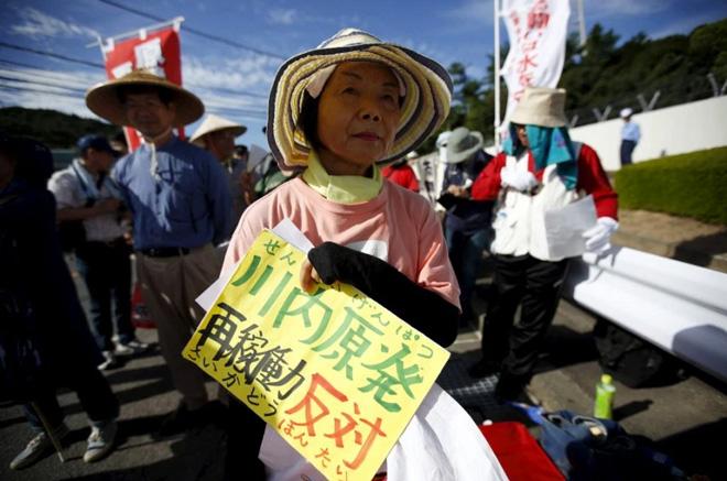 今年8月,日本首个核电站重启遭到民众抗议
