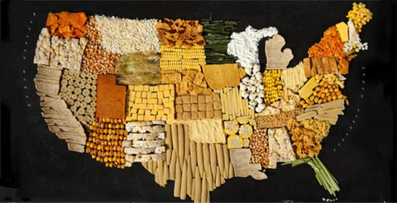 世界地图都是由美食构成