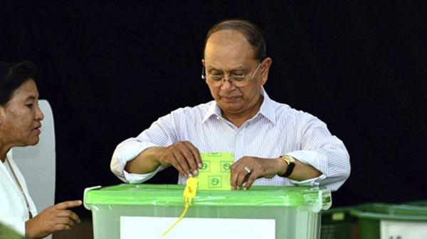 缅甸总统吴登盛称愿意接受选民的决定,并移交政权