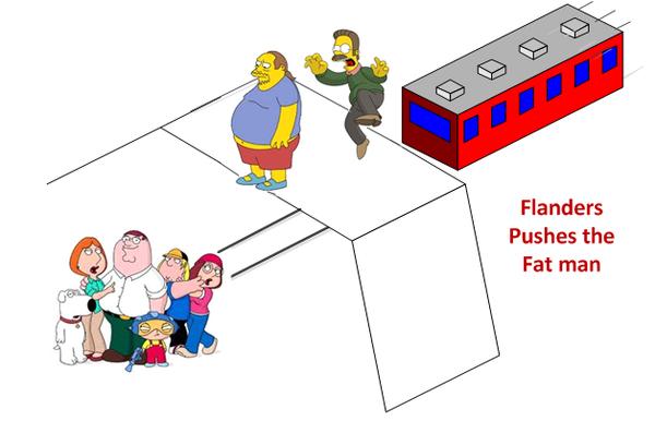 """著名的""""有轨电车难题"""":该不该推下这位大体重男子,拯救更多的人?"""