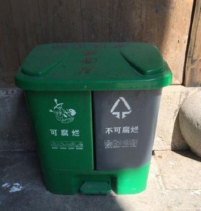金华农村每户两只分类垃圾桶