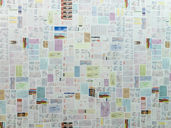 科研经费报销的发票墙 图片来源:澎湃网