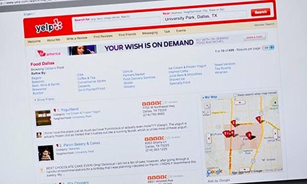欧美知名点评网站Yelp,被认为有20%的点评属于虚假点评