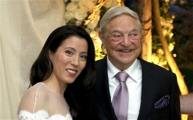 索罗斯与妻子博尔顿