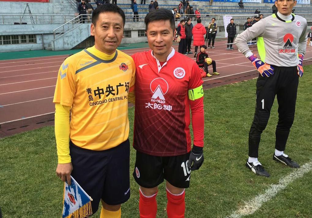 左文清参加老甲A足球赛