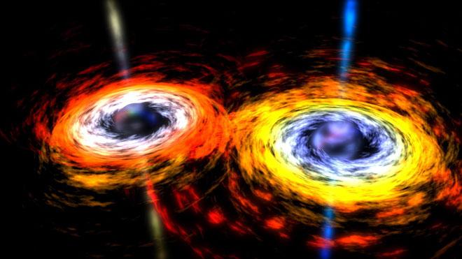 """十三亿光年外,两个黑洞""""碰撞"""""""