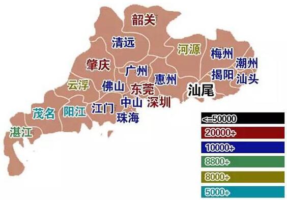 广东彩礼地图 来源:广州参考