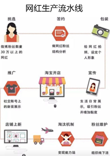 网上流传的网红生产线示意图