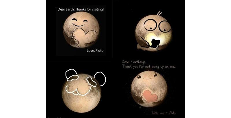 冥王星爱心萌照