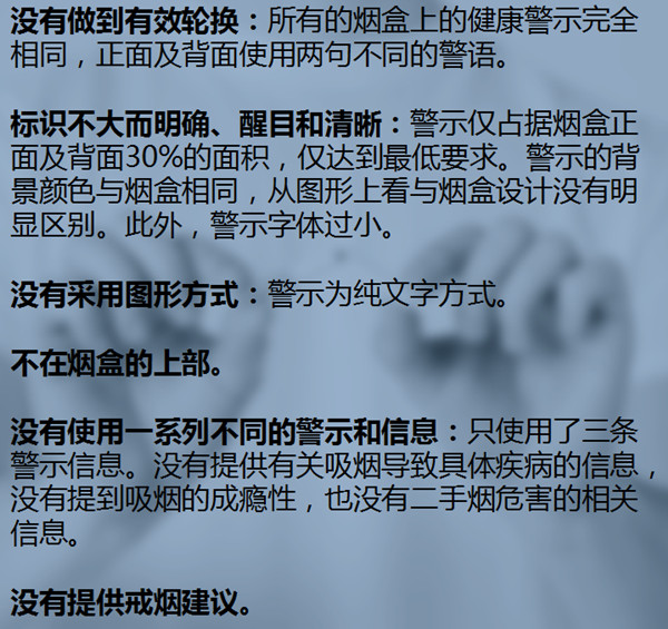 文献来源:《中国的烟草健康警示――有效性的证据和对行动的指导意义》