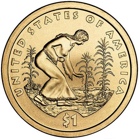 2009年硬币背面