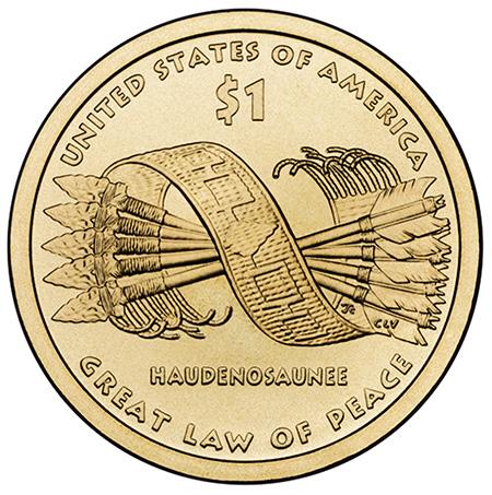 2010年硬币背面