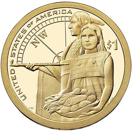 2014年硬币背面