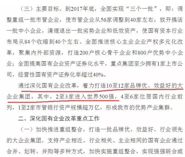 《天津市人民政府关于进一步深化国有企业改革的意见》截图