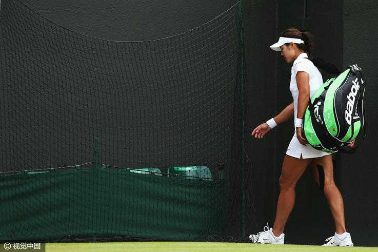 2014年温网女单第三轮,李娜不敌斯特里科娃出局