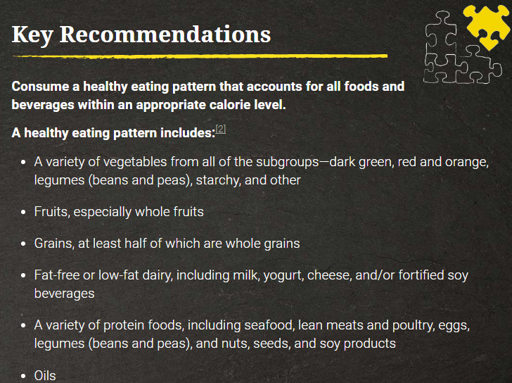 """2015版《美国居民膳食指南》""""关键建议""""的部分确实已经没有对胆固醇的限制"""
