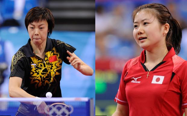 08年奥运会上的张怡宁和福原爱