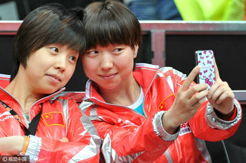 2011年鹿特丹世乒赛 张怡宁披上国家队战袍