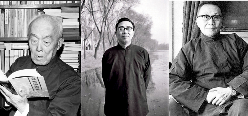 从左至右:季羡林、李慎之、王元化