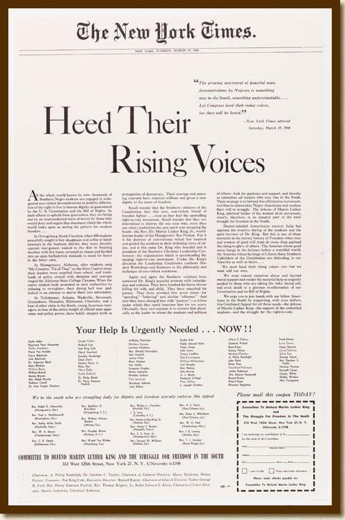 1960年纽约时报的这篇报道,开启了和沙利文警官的多年诉讼,并最终确定了沙利文原则