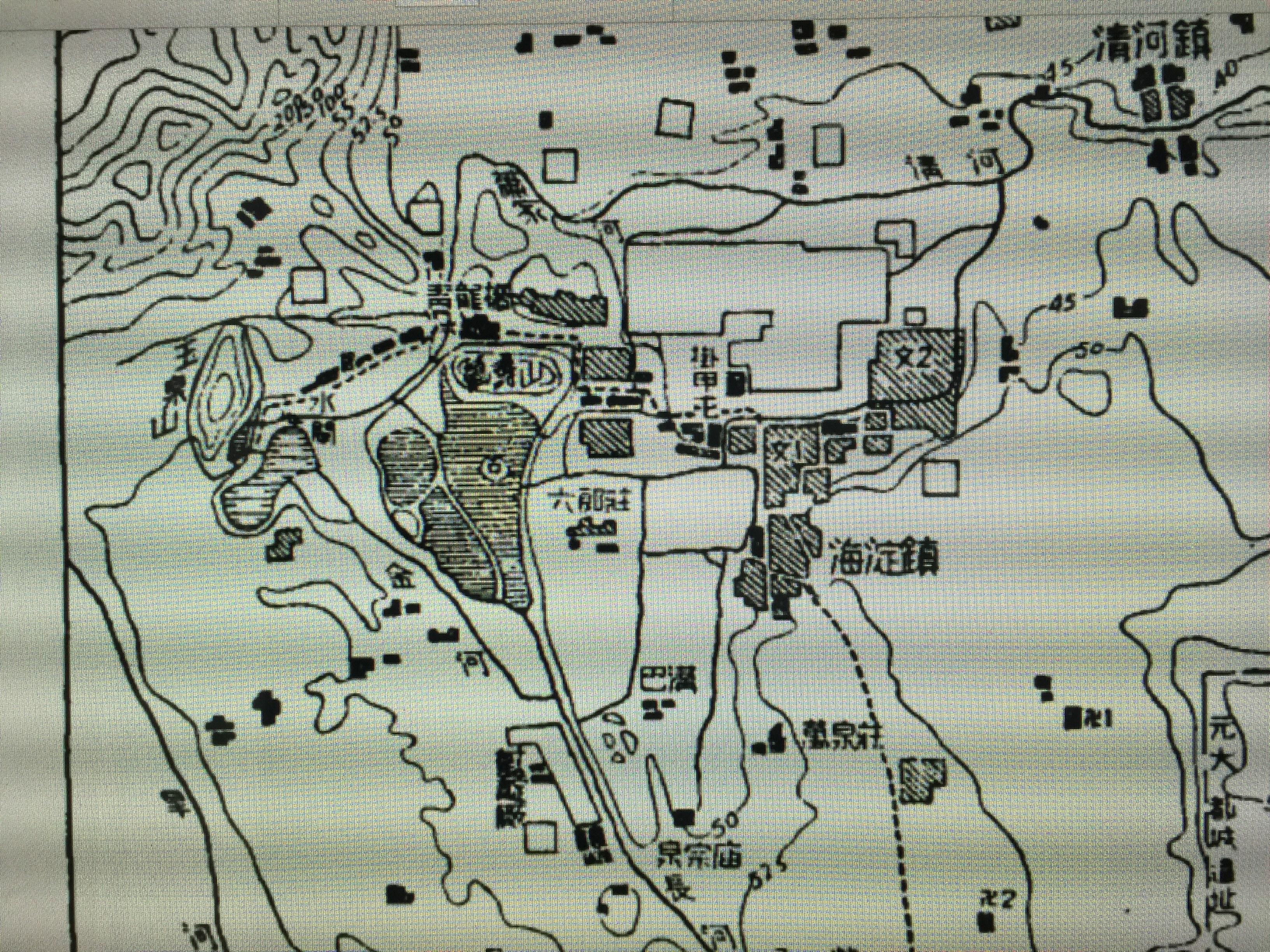 侯仁之使用过的手绘地图