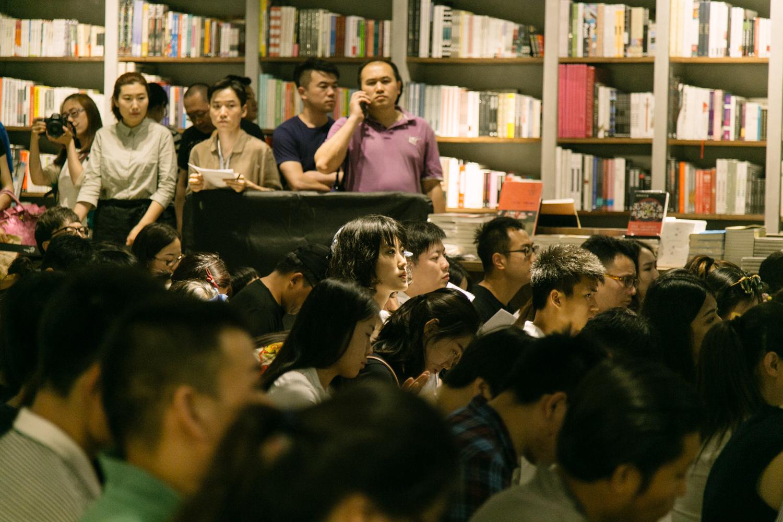 青岛方所书店的读者观众。摄影/游粤飞