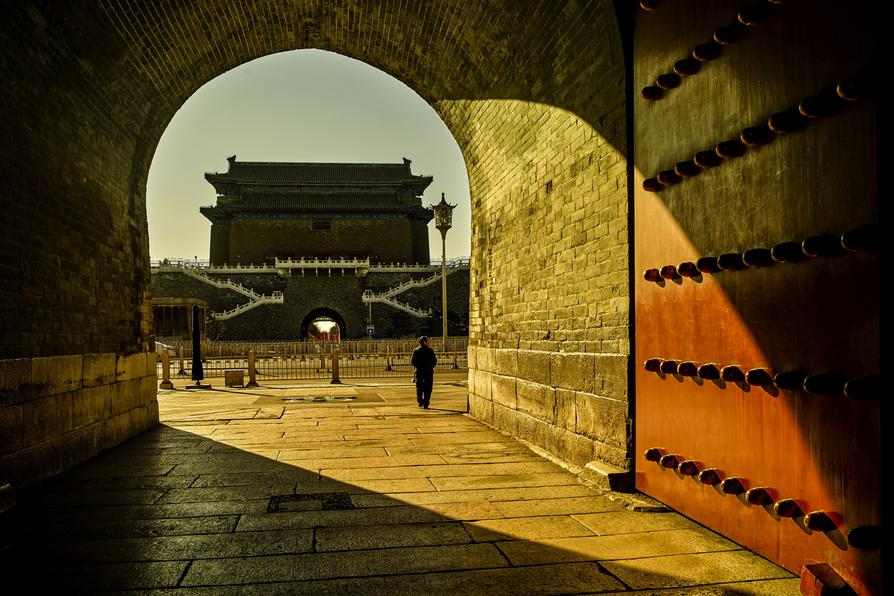 北京,正阳门。