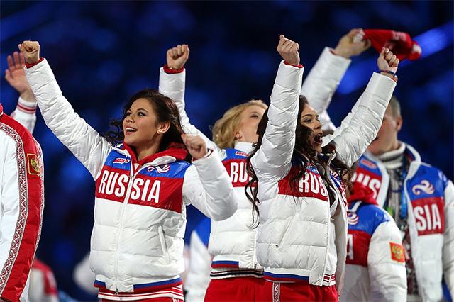 索契冬奥会上的俄罗斯运动员